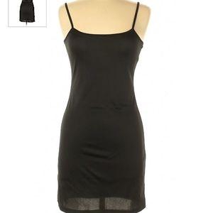 Black Kardashian Kollection Slip Dress